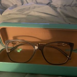 Tiffany rx glasses blue frame silver